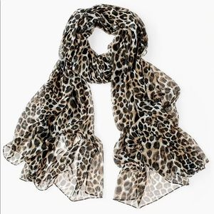 Chico's Leopard scarf